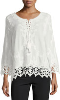 Raga Daybreak Lace-Trim Blouse