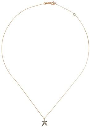 Kismet By Milka 14kt rose gold Struck star champagne diamond pendant necklace