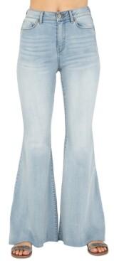 Rewash Juniors' High-Rise Flare-Leg Jeans