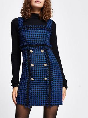 River Island Boucle Mini Dress - Blue
