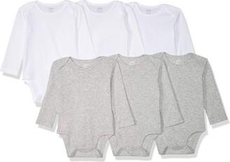 Amazon Essentials Baby 6-Pack Long-Sleeve Bodysuit