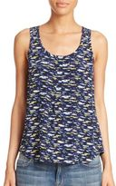 Joie Kaira Printed Sleeveless Silk Top