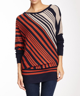 Sisters Navy & Red Boatneck Sweater