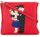 Dolce & Gabbana Family patch crossbody bag - women - Leather - One Size
