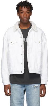 Ksubi White Denim Borg Stark Jacket