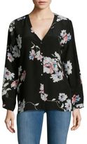Joie Michi Floral Printed Silk Top