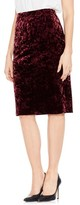 Vince Camuto Women's Crushed Velvet Pencil Skirt
