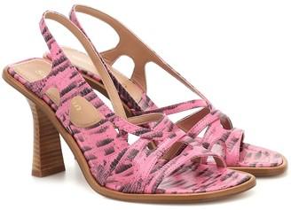 Sies Marjan Maya lizard-effect leather sandals