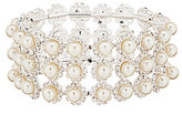 Cezanne Daisy Delight Rhinestone and Pearl Stretch Bracelet