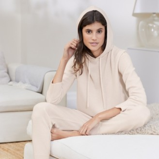 The White Company Cashmere Lounge Hoodie, Petal Pink, Extra Small