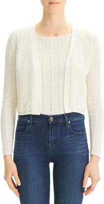 Theory Crochet Cotton-Blend Cardigan