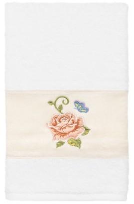 Linum Home Textiles 100% Turkish Cotton Rebecca Embellished Hand Towel