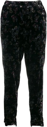 Gold Hawk Victoria crushed velvet trousers