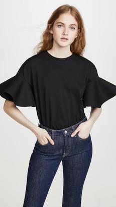 Victoria Victoria Beckham Flounce Sleeve T-Shirt