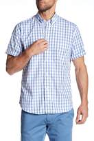 Tailorbyrd Short Sleeve Checkered Trim Fit Woven Shirt (Big & Tall Available)