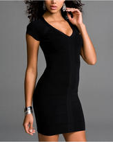 Banded Cap-Sleeve Dress