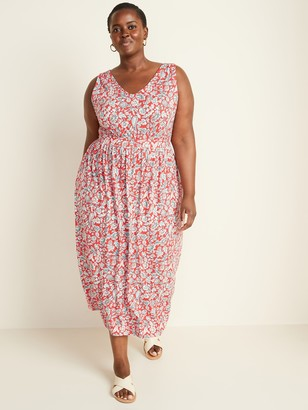 Old Navy Sleeveless Plus-Size Waist-Defined Maxi Dress