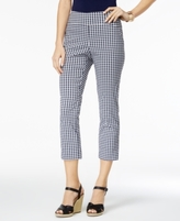 Charter Club Petite Cambridge Gingham Capri Pants, Created for Macy's