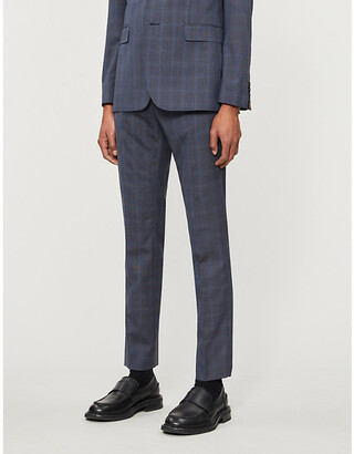 Ted Baker Debonair checked wool suit trousers