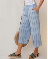 Express striped cropped wide leg pant