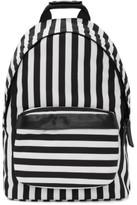 Ami Alexandre Mattiussi Black and White Striped Backpack
