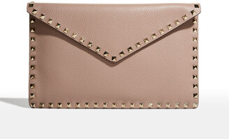 Valentino Rockstud Large Envelope Clutch Bag