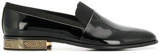 Versace Contrast Leather Loafers