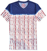 American Rag Men's Red White and Blue V-Neck T-Shirt, Only at Macy's