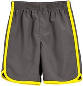 City Threads Swim Trunk (Toddler/Kid) - Charcoal/Yellow - 4