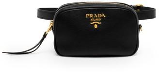 Prada Diano Leather Convertible Belt Bag