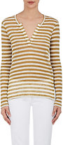 Barneys New York Women's Striped Loose-Knit Top