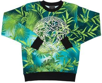 Versace All Over Jungle Print Cotton Sweatshirt