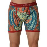 Ed Hardy Men's Cowboy And Horse Boxer Brief - Red