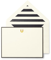 Kate Spade Monogram U Correspondence Cards - Set of 10