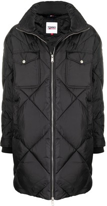 Tommy Hilfiger Diamond Quilted Oversize Coat