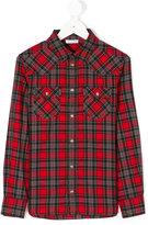 Dolce & Gabbana studded checked shirt - kids - Cotton - 8 yrs