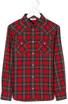 Dolce & Gabbana studded checked shirt