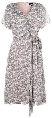 DKNY Floral Print Wrap Dress