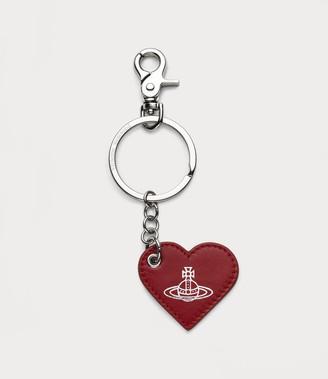 Vivienne Westwood Alexa Heart Keyring Red