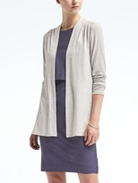 Banana Republic Long-Sleeve Soft Jersey Cardigan