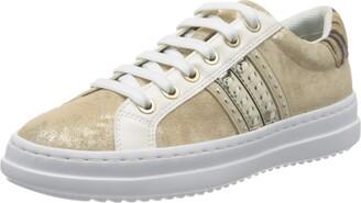 Geox Women's Pontoise D Stripe Sneaker Shoe