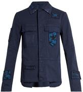 Valentino Raw-edge Patch-appliqué Jacket