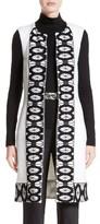 St. John Women's Sara Lace Trim Long Vest