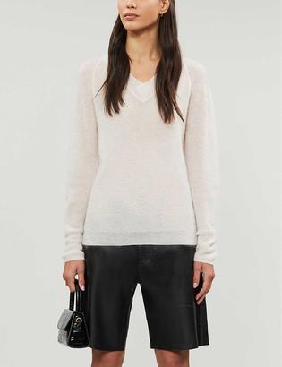 Claudie Pierlot Maribellae V-neck mohair-blend jumper