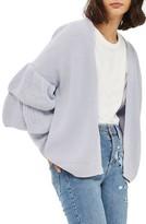 Topshop Women's Layered Ruffle Sleeve Cardigan
