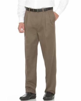 Savane Men's Big and Tall Flat Front Performance Chino Pant