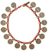 Etro Engraved-pendant beaded necklace
