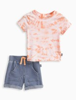 Splendid Baby Boy Tie Dye Tee and Indigo Short