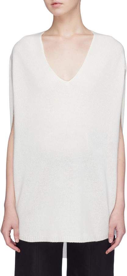 Theory V-neck cashmere poncho top