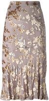 Etro metallic jacquard skirt